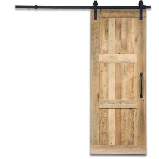Reclaimed Sliding Barn Door 3-Panel